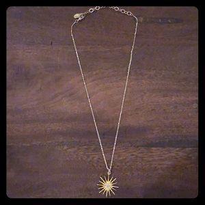 Sequin NYC starburst necklace